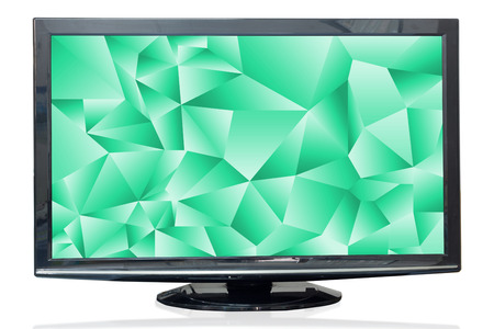 jade: Television monitor texture jade isolated on white background. Stock Photo