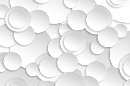 Abstract paper circle design silver background texture. Stockfoto