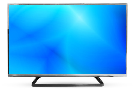 watching television: Television sky or monitor landscape isolated on white background : clipping path frame television