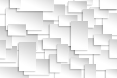 Abstract paper rectangle design silver background texture. Stockfoto