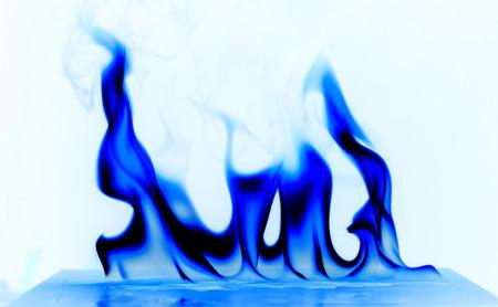 inverse: Cool fire temperature white background.
