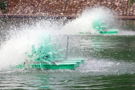 Surface aerator low speed motor hydro water. Stockfoto