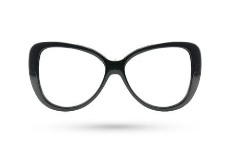 cat eye: Cat eyes masquerade fashion glasses style isolated on white background. Stock Photo