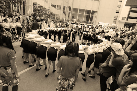 public health: Nakhonratchasima, Tailandia - 11 de agosto 2015: Actividad grad�an grupo de salud p�blica en Tailandia