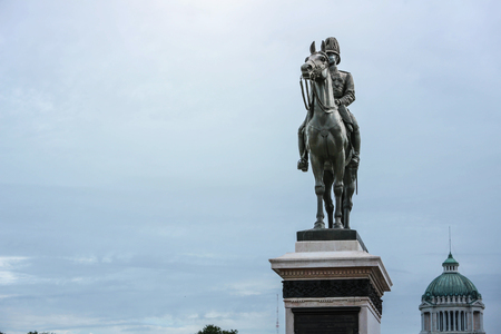 king of siam statue of THAILAND. (RAMA V) Stock Photo