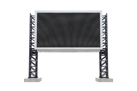medium: Medium center scoreboard stadium isolated on white background. use clipping path Stock Photo