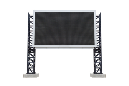 Medium center scoreboard stadium isolated on white background. use clipping path 版權商用圖片