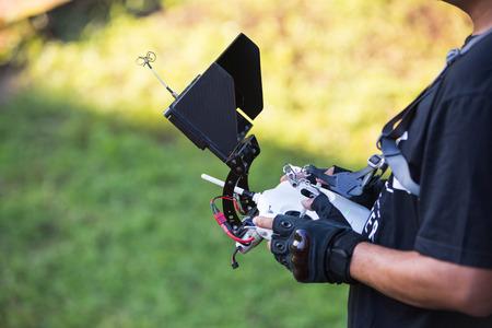 Afstandsbediening een helikopter oud wijf. Stockfoto - 45895808