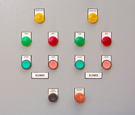 lamp: Close-up Control panel of manufacturing in factory.