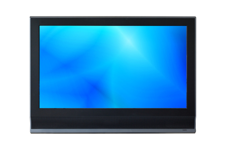 lcd: LCD Television monitor isolated on white background. Stock Photo