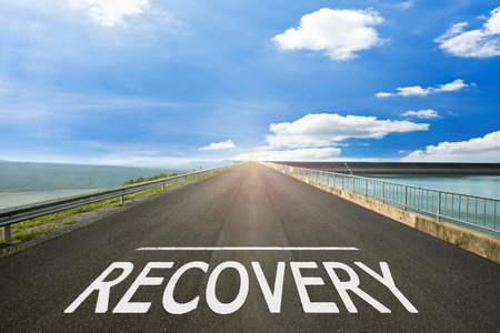 road to recovery: RECOVERY - Road surface of begin to the summer.