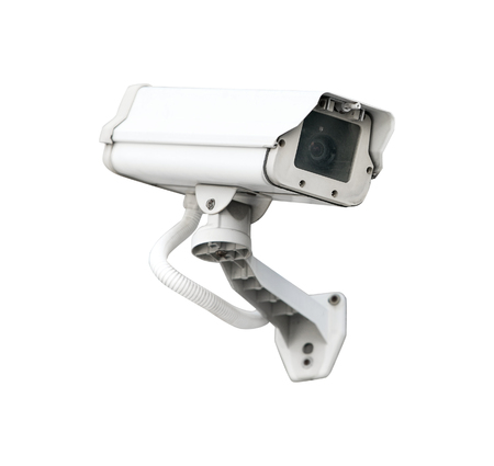 cctv camera: CCTV camera security isolated white background.