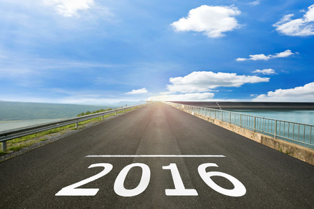 2016 - Road surface of begin
