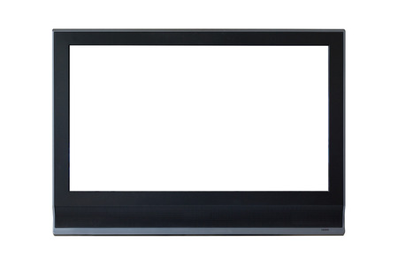 partition: LCD Television monitor partition isolated on white background.