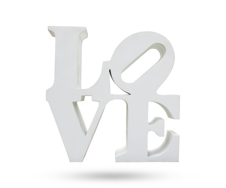 LOVE symbol object isolated white background, use clipping path