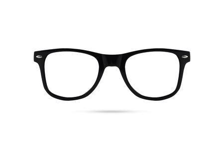 wayfarer: Fashion glasses style plastic-framed isolated on white background. Stock Photo