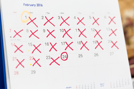 Reminder calendar, the concept to get pregnant from this month series.