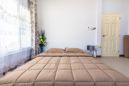bed room: Bed room interior decoration modern designed. Stock Photo