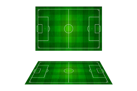soccer stadium: Top view of soccer field, Football stadium.