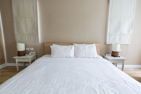 bed room: Bed room interior decoration modern with light flare.