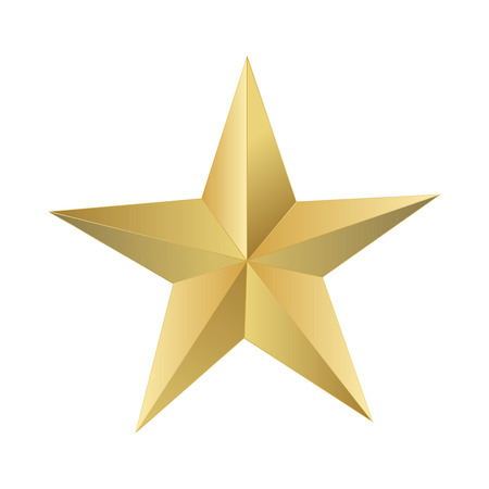 jewell: Golden star elegant, vector illustrator.