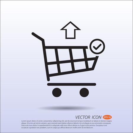 Vector Shopping basket icon correct move out.