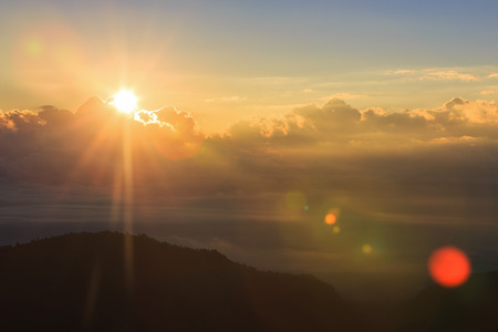 smoky mountains: Beautiful summer landscape with sunset in the mountain.