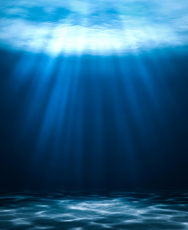Blue deep water abstract natural background. Banque d'images