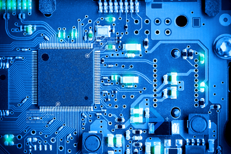 Close-up electronic circuit board. technology style concept. Zdjęcie Seryjne
