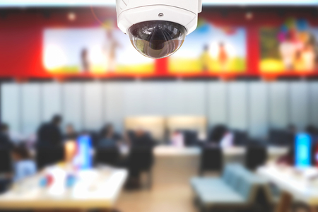 CCTV or security operating in office building or office center. 版權商用圖片