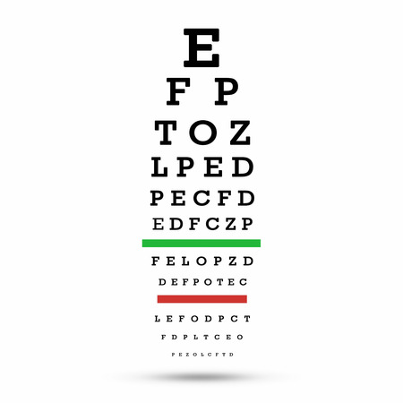 Eye Test Chart The Testing Board With Clipping Path Stock Photo