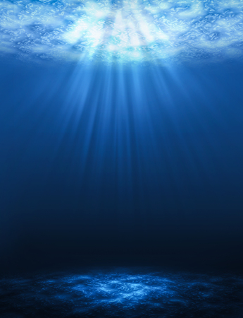 Sunbeam vertical Abstract underwater backgrounds in the sea. Stock fotó