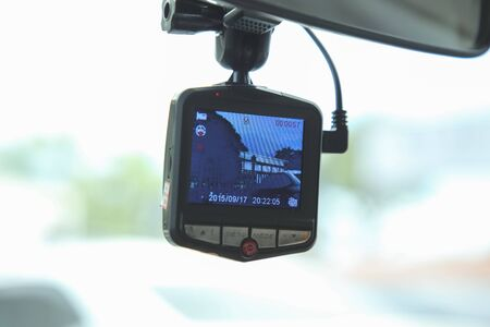 Video recorder car camera for safety on the road accident.