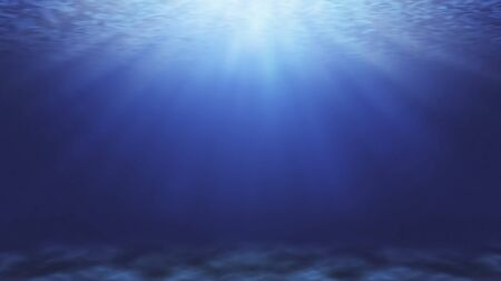 Blue deep water in the sea abstract natural background. Stockfoto