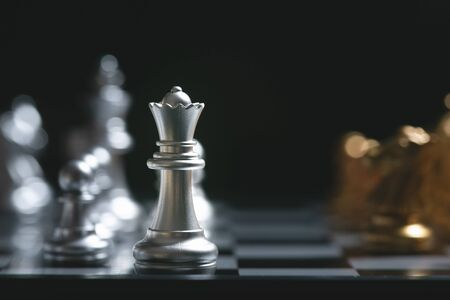Chess board game for ideas and competition and strategy. strategy concept