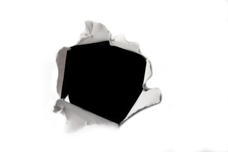 paper hole: A black hole in white paper