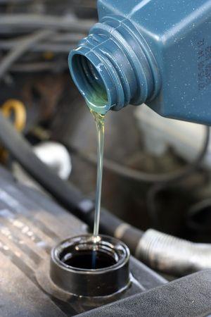 change oil Stock Photo