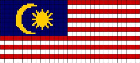 8bit: Vector Bandiera della Malesia in stile 8bit