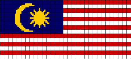 8bit: Vector Flag of Malaysia in 8bit style