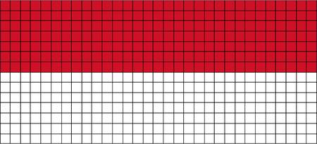 8bit: Vector Bandiera di Indonesia in stile 8bit Vettoriali