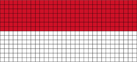 8bit: Vector Flag of Indonesia in 8bit style