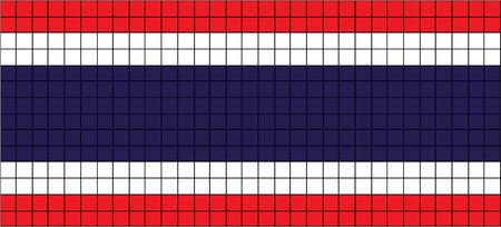 8bit: Vector Bandiera della Thailandia in stile 8bit Vettoriali