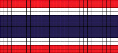 8bit: Vector Flag of Thailand in 8bit style  Illustration
