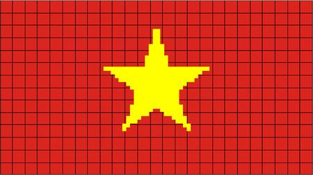 8bit: Vector Bandiera del Vietnam in stile 8bit Vettoriali