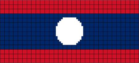 8bit: Vector Bandiera del Laos in stile 8bit