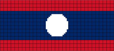 8bit: Vector Flag of Laos in 8bit style  Illustration