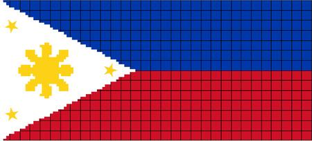 8bit: Vector Bandiera della Phillipnes in stile 8bit