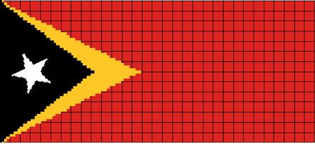 8bit: Vector Bandiera di stile 8bit Timor Leste