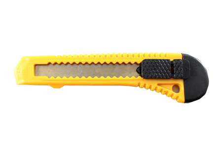 chorme: Yellow Knife Cutter Isolated In White
