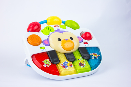 Kajang, Malaysia - 17 FEBRUARY 2017: Closeup shot of Fisher-Price toys call Grow With Me Piano on white background Editorial